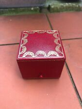 CARTIER ANTIQUE/VINTAGE LEATHER XL RING BOX JEWELLERY PRESENTATION JEWELRY CASE