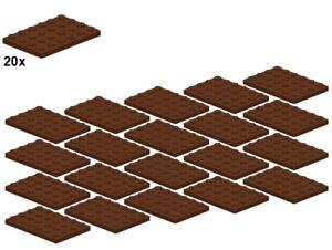 LEGO® - Plates - Reddishbrown - 3032-11 - 4x6 (20Stk) - Platte - Braun