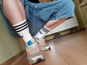 AEM KEI Skater Baggy Shorts Herren kurze Jeans Hose Sagging Pants Hip Hop W36