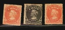 Chile Classic Columbus stamps #15-17 CV$75  MNG PARTIAL TRACES OF GUM