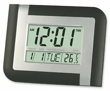 Digital Wall Clock Alarm Temp Calendar Countdown LCD Large KK-5887 Desk Black