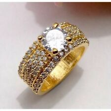 Wedding Engagement Ring U.K. Size:L Gold Plated Ring CZ Cubic Zirconia