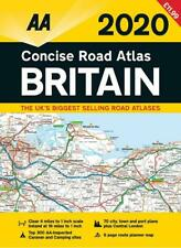 AA 2020 Concise Road Atlas Britain Spiral Bound (Road Map)