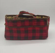 Trend Lab Northwoods Storage Caddy Nursery Organizer, Plaid Red & Brown