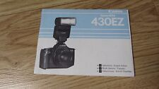 Canon Speedlite 430EZ Original Instruction manual