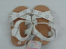 Toddlers Sandals With Buckle Swiggles Girls Size 7 Summer Childs White