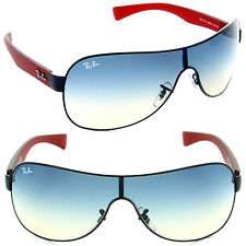 New Ray Ban RB3471 006/79 Matte Black Red frame  w/Blue Gradient  32mm