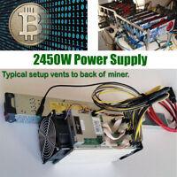 100-240V 2450W Power Supply for Antminer S9 T9 S7 L3 mining 94% Efficiency BTC