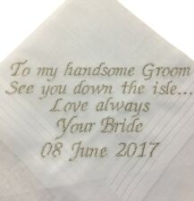 Personalised Handkerchief - Mens Wedding, Groom, Father of the Bride