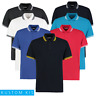Kustom Kit MEN'S PIQUE POLO SHIRT TIPPED CONTRAST STRIPES GOLF SMART CLASSIC FIT