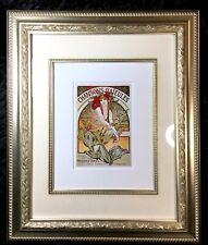 Alphonse Mucha Art Nouveau Deco French Ad Art Chansonsons D'aieules Framed Print