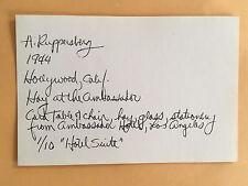 ALLEN RUPPERSBERG card 1969 Lucy Lippard 557,087 exhibit seattle vancouver B