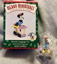 1998 Hallmark Disney Merry Miniatures Holiday MINNIE'S LUGGAGE CAR🚂 NEW/BOX PT2