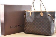 Authentic Louis Vuitton Monogram Neverfull GM Tote Bag M40157 LV 35741