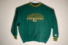 Vintage Starter Green Bay Packers NFL Sweatshirt Mens Large Green