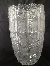 Beautiful hand cut large crystal vase