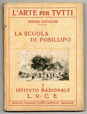 Ortolani LA SCUOLA DI POSILLIPO NAPOLI ARTE ISTITUTO NAZIONALE L.U.C.E. 1934