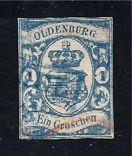 OLDENBURG STAMP #13--  1g COAT OF ARMS -- 1861 -- USED