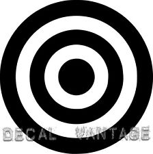 Bullseye Vinyl Sticker Decal Bull's Eye Military - Choose Size & Color