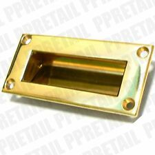 Quality Polished Brass Recessed Pull Door Handle 89 X42mm Fits Flush Smooth