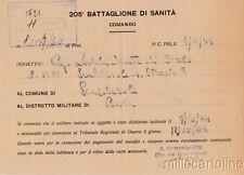 § SCALDASOLE (PV) - Denuncia latitanza 205° Batt. Sanità (p. da campo 795) 1944