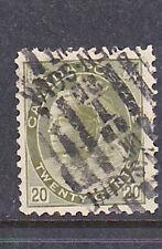 Canada Scott # 84     20 cent green Scott Catalog Val $100.00