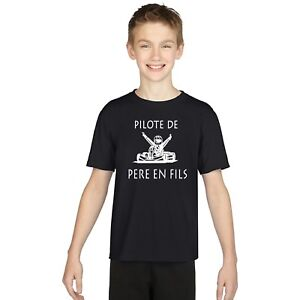 T-shirt ENFANT PILOTE DE PÈRE EN FILS