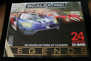 SCALEXTRIC C3893A 50 YEARS OF FORD AT LE MANS TWIN PACK!(last1)