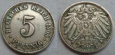 Deutsches Reich 5 Pfennig 1908 (D) @1