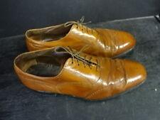Vintage Florsheim Imperial Light Brown Leather Long Wing Tip Shoes Size 9 D
