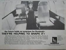 1/1969 PUB RUMBOLD AIRCRAFT SEATING INTERIORS SIEGE SEAT AVION JETSTREAM AD