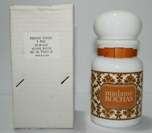 "Madame Rochas Bath Salt Jar - 17cm (7""inch) Tall - Brand New 1970s Rare Vintage"