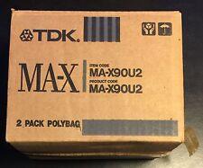 20 NIB TDK MA-X 90 min vintage TOTL metal bias Tape for Cassette deck
