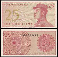 INDONESIA 25 Sen, 1964, P-93, Soldier, UNC World Currency