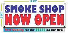 Smoke Shop Now Open Banner Sign New 2X5