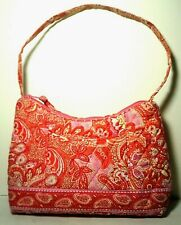 Vera Bradley Sherbet MOLLY Handbag Shoulder Bag EXCELLENT Pink Orange Paisley