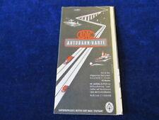 "Vintage Illustrated Autobahn Map Measures 24x17"" ADAC SZ3"