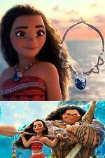 New Disney Moana Necklace Pendant Brown Cord Souvenir Gift Costume Replica Gem