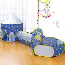 3 in 1 Pop Up Schloss Spielzelt Spielhaus Babyzelt Bällebad Kinderzelt mit