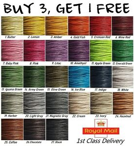 1mm Waxed Cotton Cord String 5m to 20m Jewellery Making Necklace Bracelet *NEW*