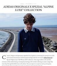 Adidas Spezial SPZL Long Sleeve Polo Shirt - Night Navy / Chalk White RARE.
