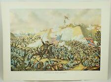 Capture of Fort Fisher Vintage Civil War Kurz & Allison Lithograph Folio Print