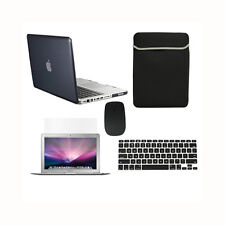 """5 in1 Crystal BLACK Case for Macbook PRO 13"""" + Keyboard Cover + LCD + Bag+ Mouse"""
