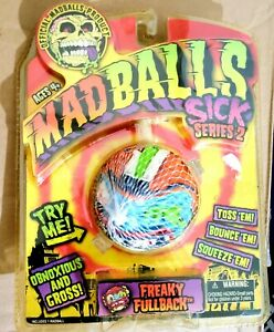Rare MAD BALLS SICK SERIES 2 FREAKY FULLBACK Sealed MOC Blue Football Monster