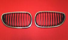 BMW 5 Series E60 E61 Air Intakes Chrome Radiator Grille Left Right Kidney