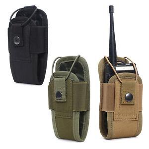 Tactical Radio Pouch Adjustable Walkie Talkie Bag Belt Holder Holster Bag