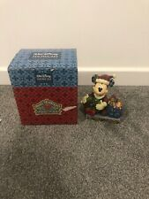 Disney Traditions Jim Shore Mickey Mouse Merry Christmas To You Ornament Showcas