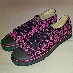 VISION STREET WEAR Punk Skull Skateboard Shoes Pink Black 7 UK / 8 USA / 41 EU