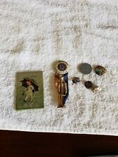 Vintage Advertising Pins,Mixed Lot Lot of 7~Worlds Fair,Mortons Salt~ Free ship~