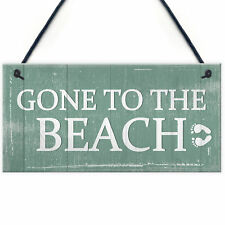 Gone To The Beach Hanging Plaque Nautical Decor Beach Seaside Shabby Chic Signs